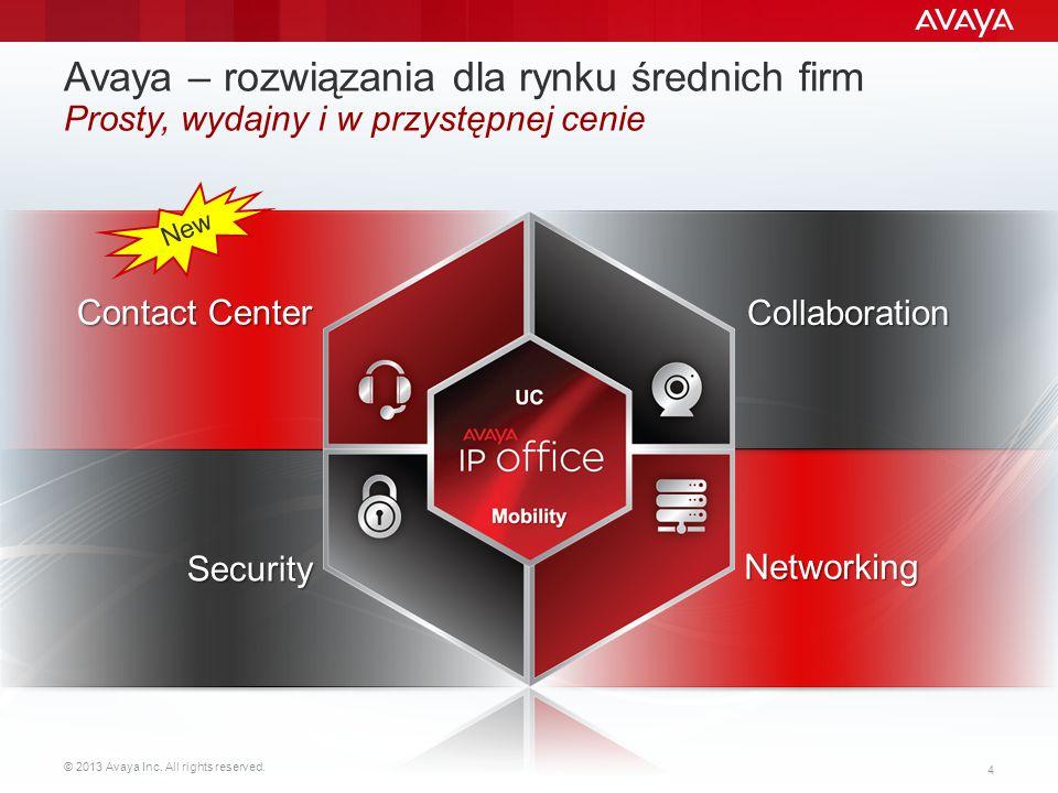 Avaya – rozwiązania dla rynku średnich firm Prosty, wydajny i w przystępnej cenie