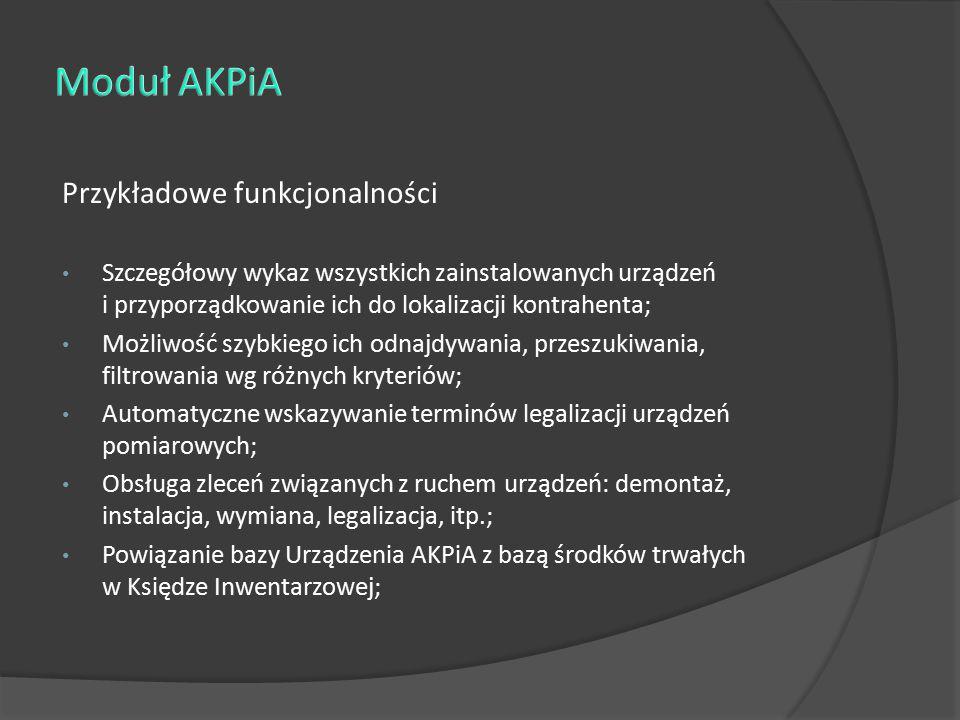 Moduł AKPiA Przykładowe funkcjonalności