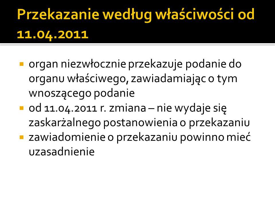 Przekazanie według właściwości od 11.04.2011