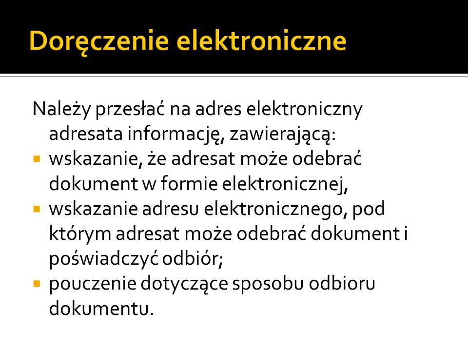 Doręczenie elektroniczne