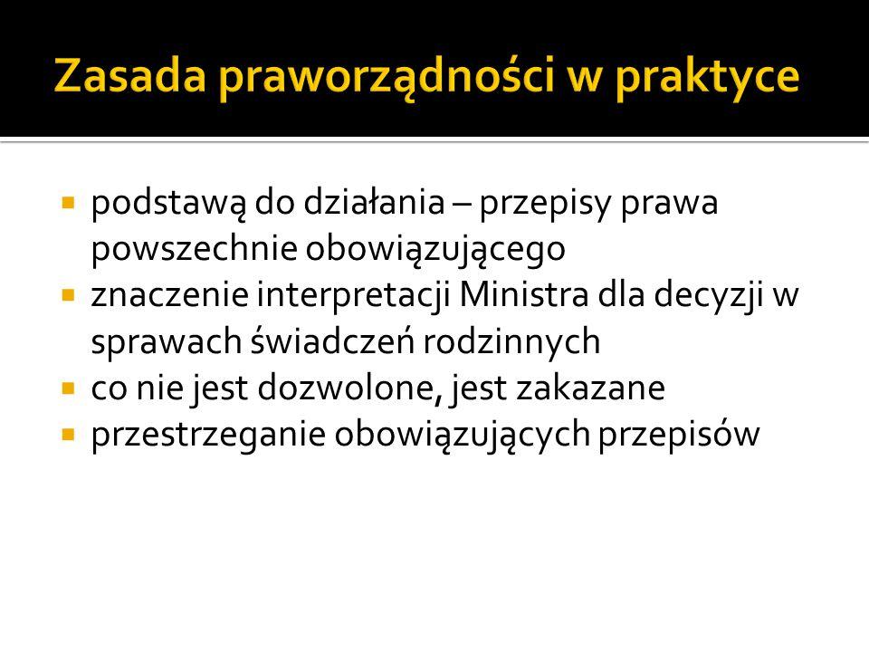 Zasada praworządności w praktyce