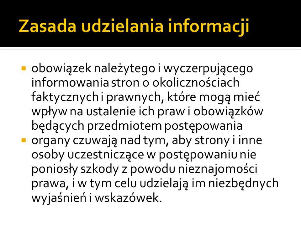 Zasada udzielania informacji