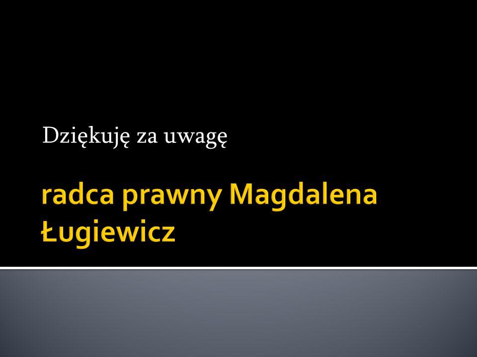 radca prawny Magdalena Ługiewicz