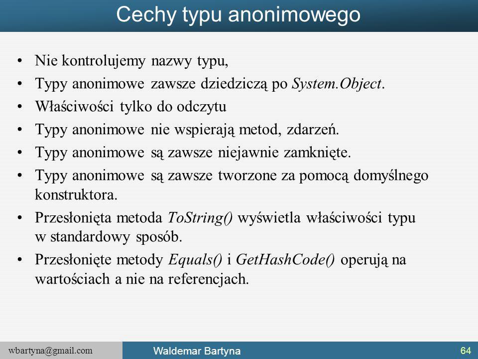 Cechy typu anonimowego