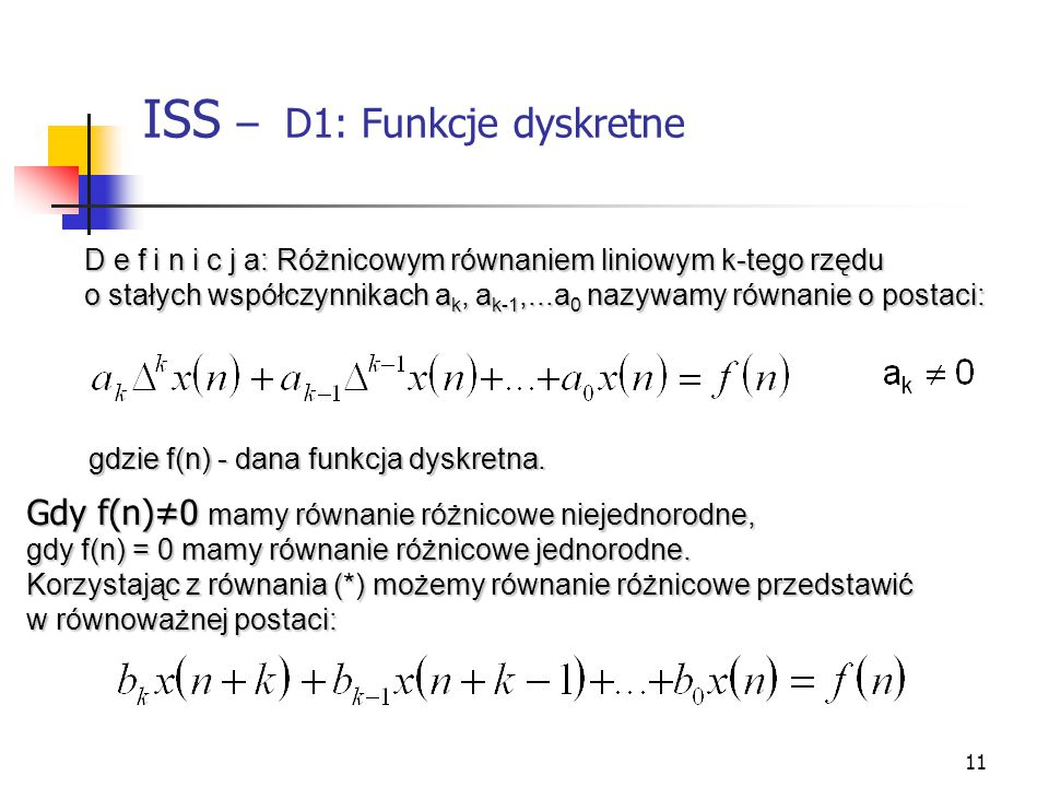ISS – D1: Funkcje dyskretne