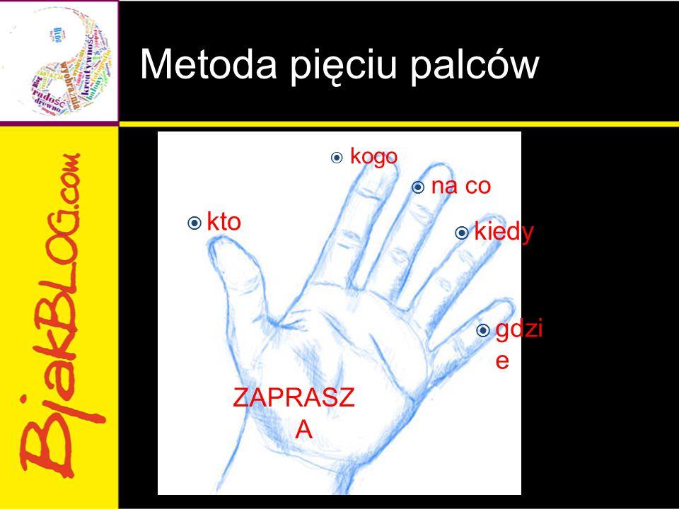 Metoda pięciu palców kogo na co kto kiedy gdzi e ZAPRASZ A