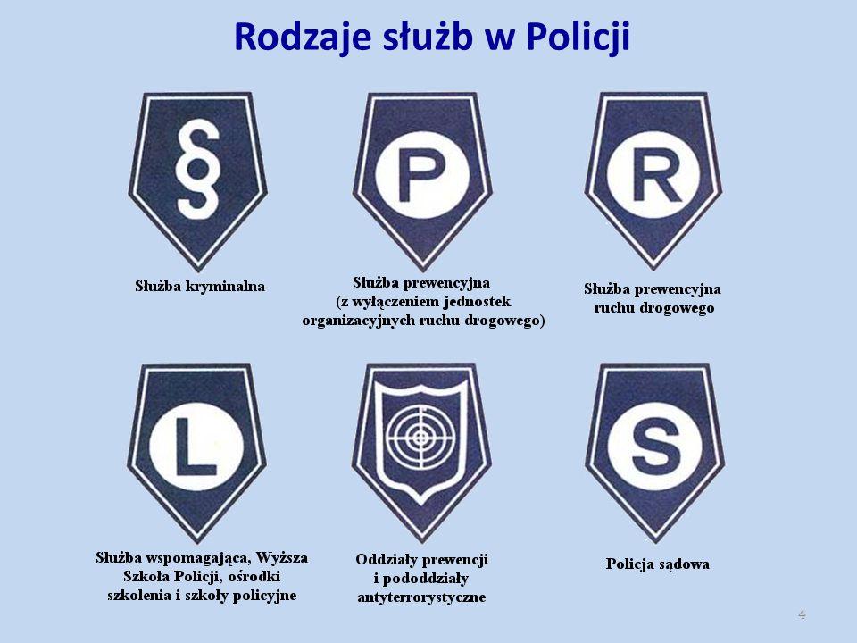 Rodzaje służb w Policji