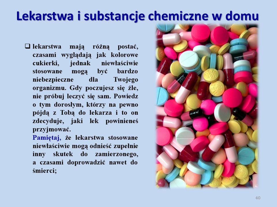 Lekarstwa i substancje chemiczne w domu