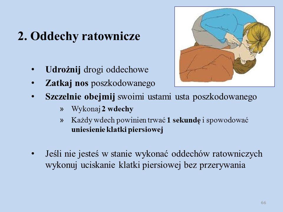 2. Oddechy ratownicze Udrożnij drogi oddechowe