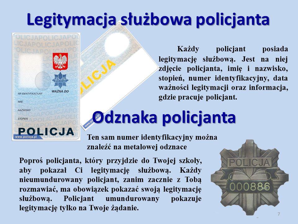 Legitymacja służbowa policjanta