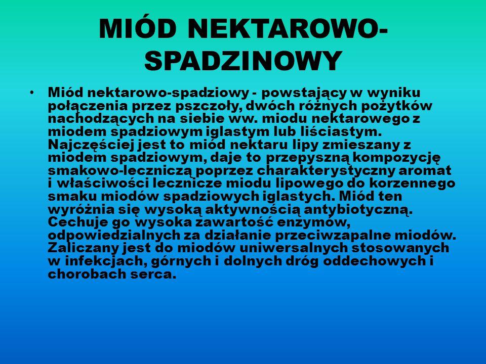MIÓD NEKTAROWO- SPADZINOWY