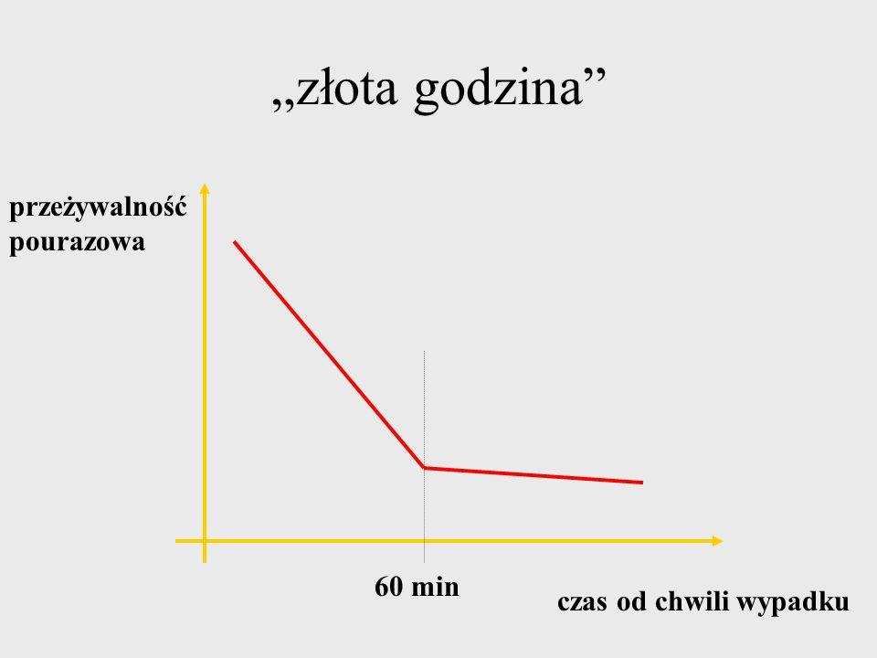"""""""złota godzina przeżywalność pourazowa 60 min czas od chwili wypadku"""