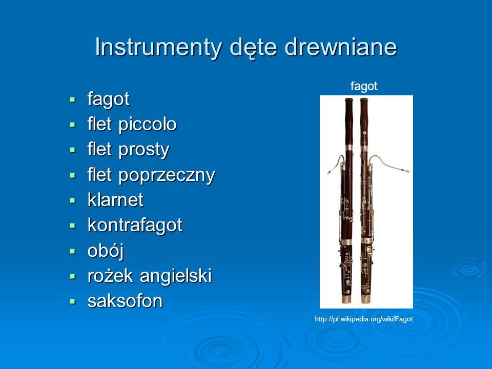 Instrumenty dęte drewniane