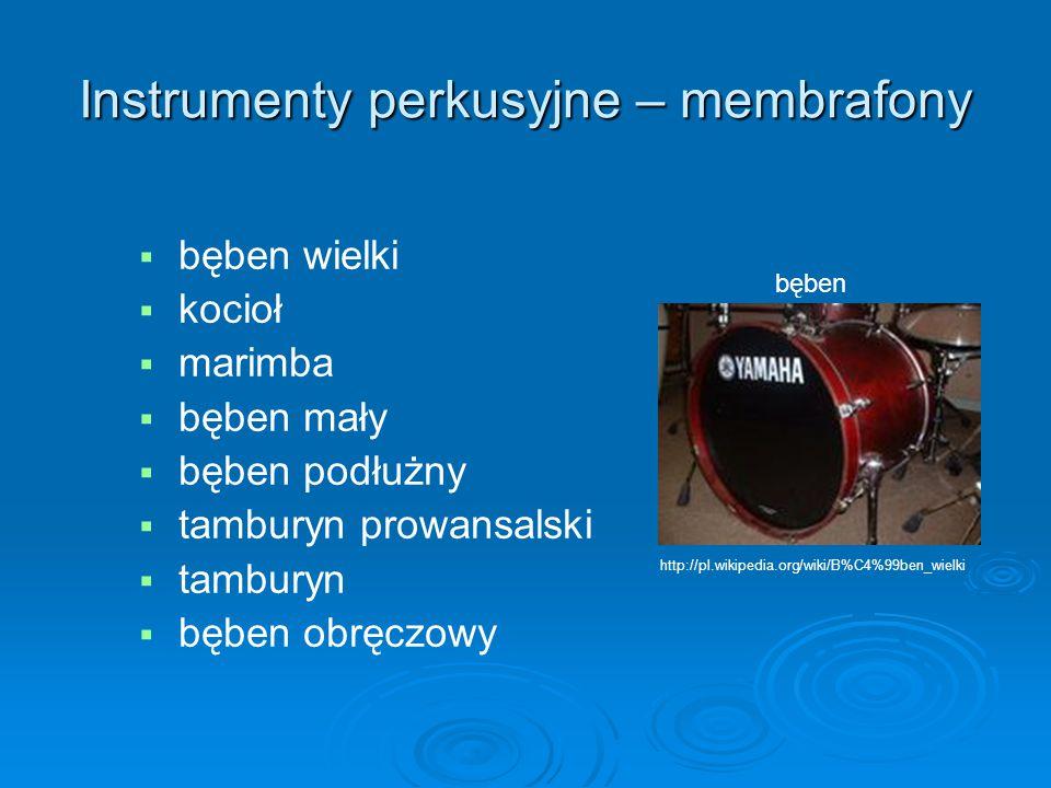 Instrumenty perkusyjne – membrafony