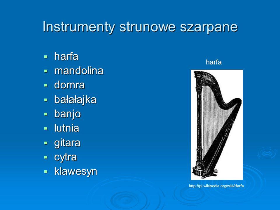 Instrumenty strunowe szarpane