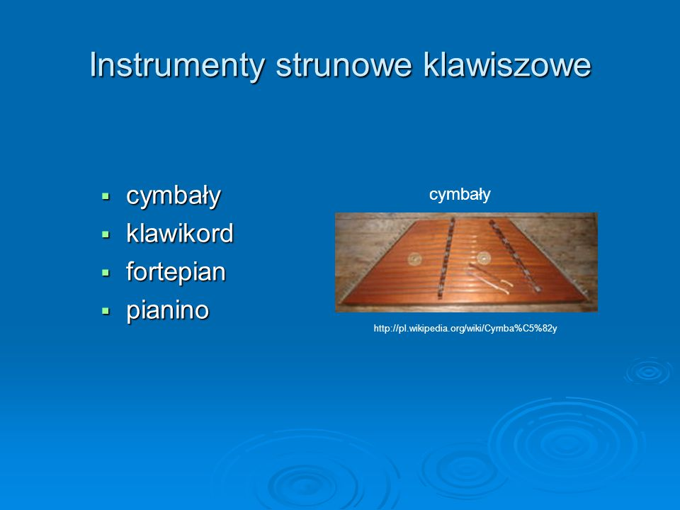 Instrumenty strunowe klawiszowe