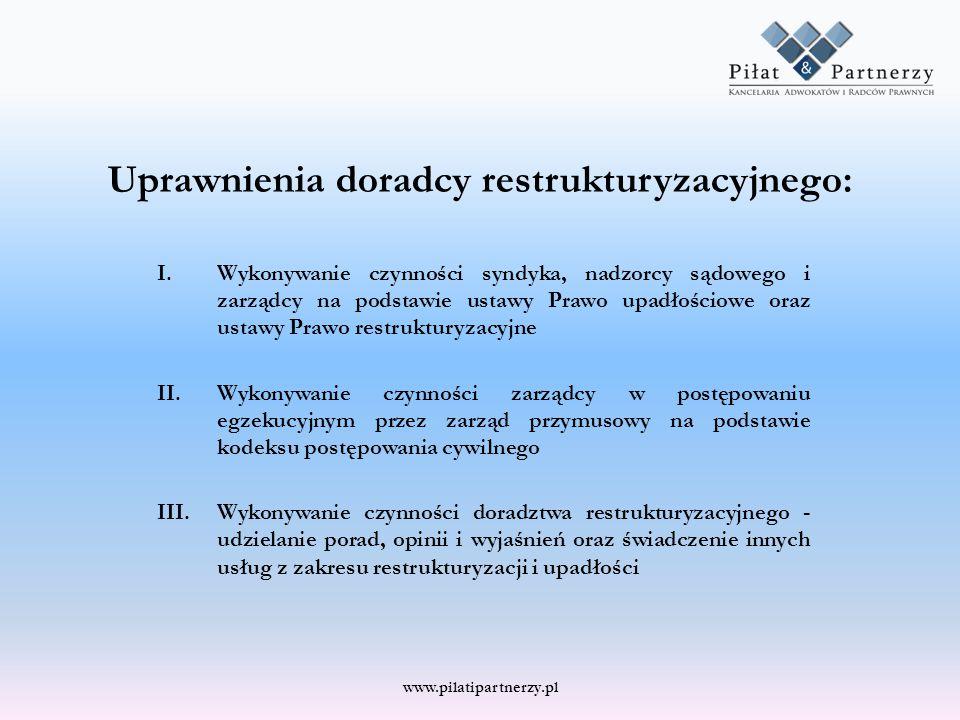 Uprawnienia doradcy restrukturyzacyjnego: