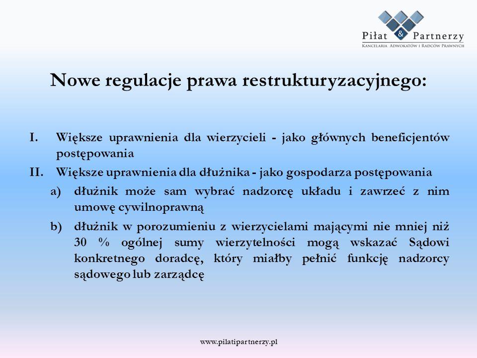 Nowe regulacje prawa restrukturyzacyjnego: