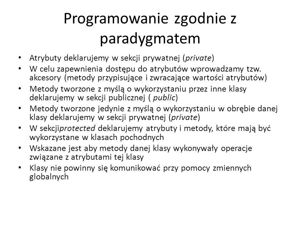 Programowanie zgodnie z paradygmatem