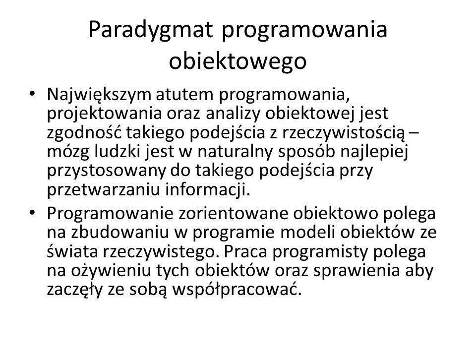 Paradygmat programowania obiektowego