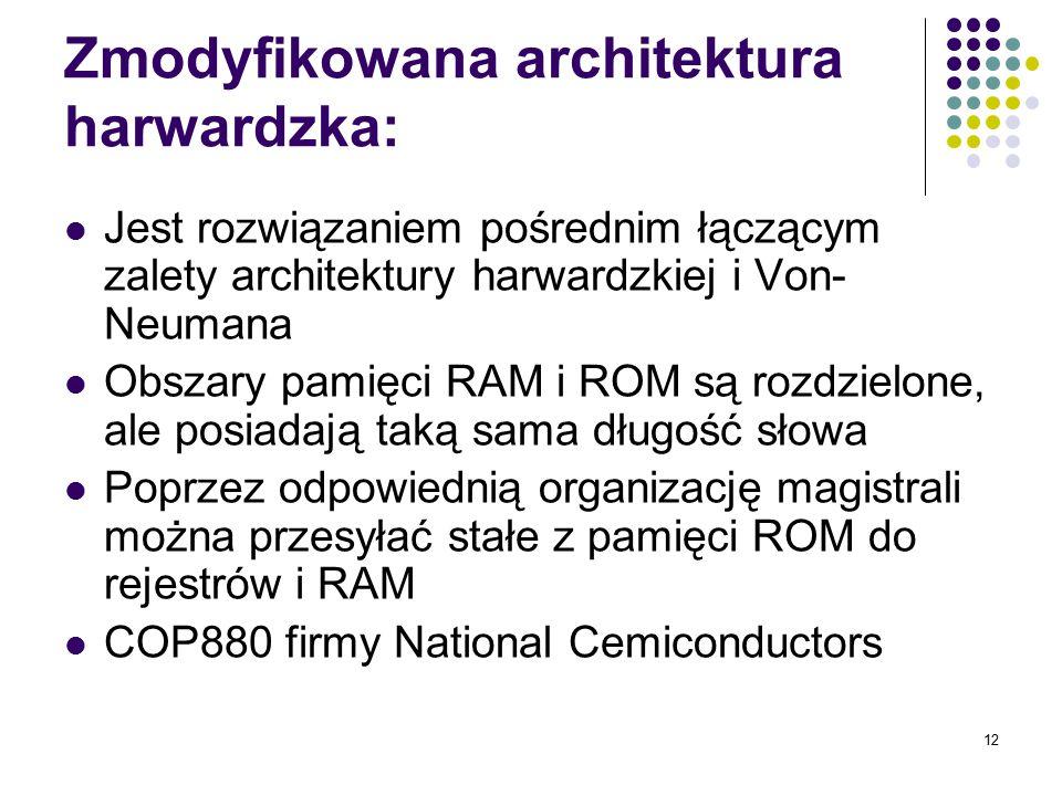Zmodyfikowana architektura harwardzka: