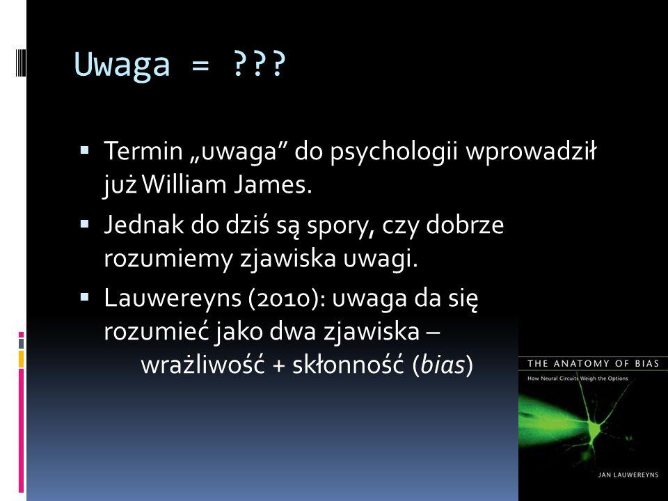 """Uwaga = Termin """"uwaga do psychologii wprowadził już William James. Jednak do dziś są spory, czy dobrze rozumiemy zjawiska uwagi."""