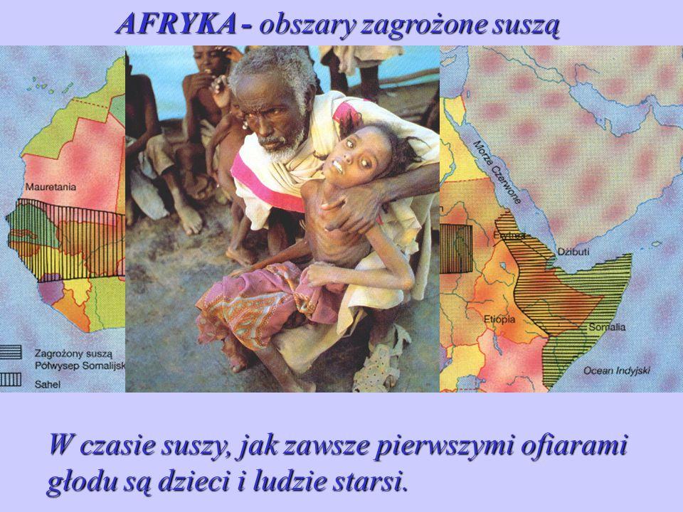 AFRYKA - obszary zagrożone suszą