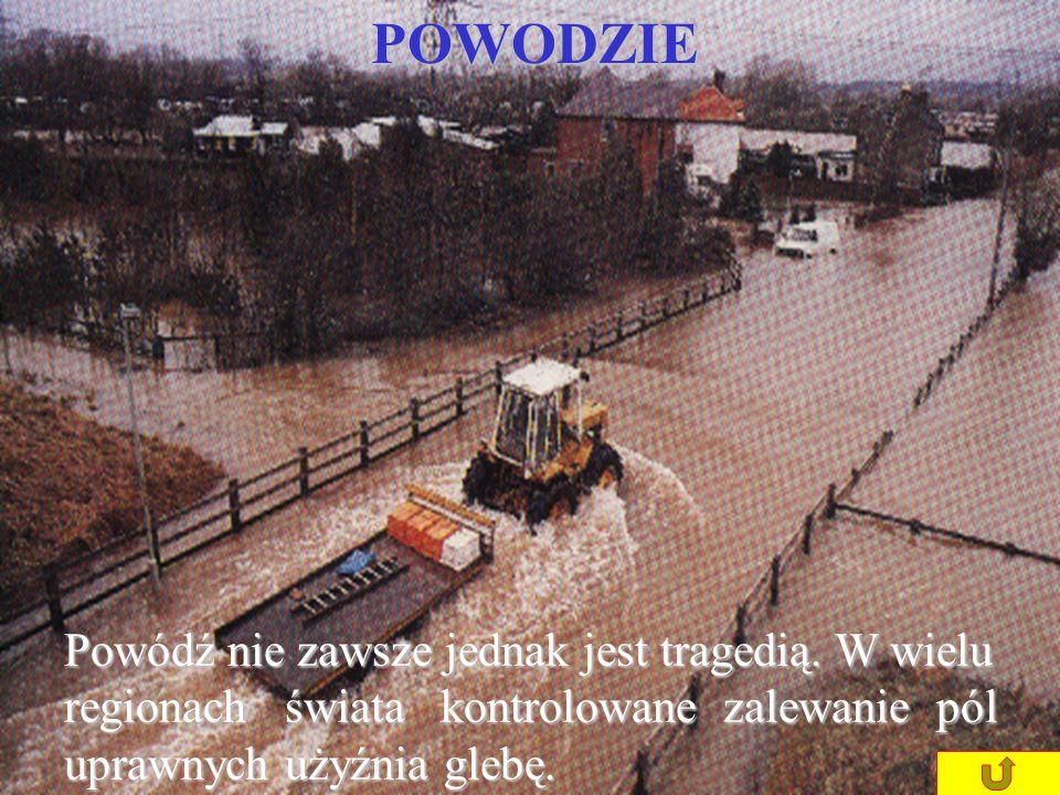 POWODZIE Powódź nie zawsze jednak jest tragedią.