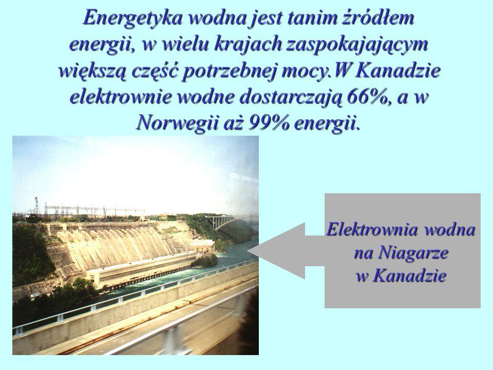 Elektrownia wodna na Niagarze w Kanadzie