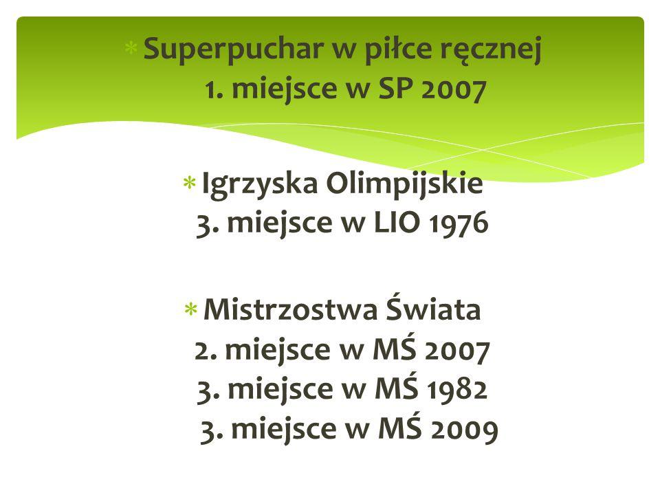 Superpuchar w piłce ręcznej 1. miejsce w SP 2007