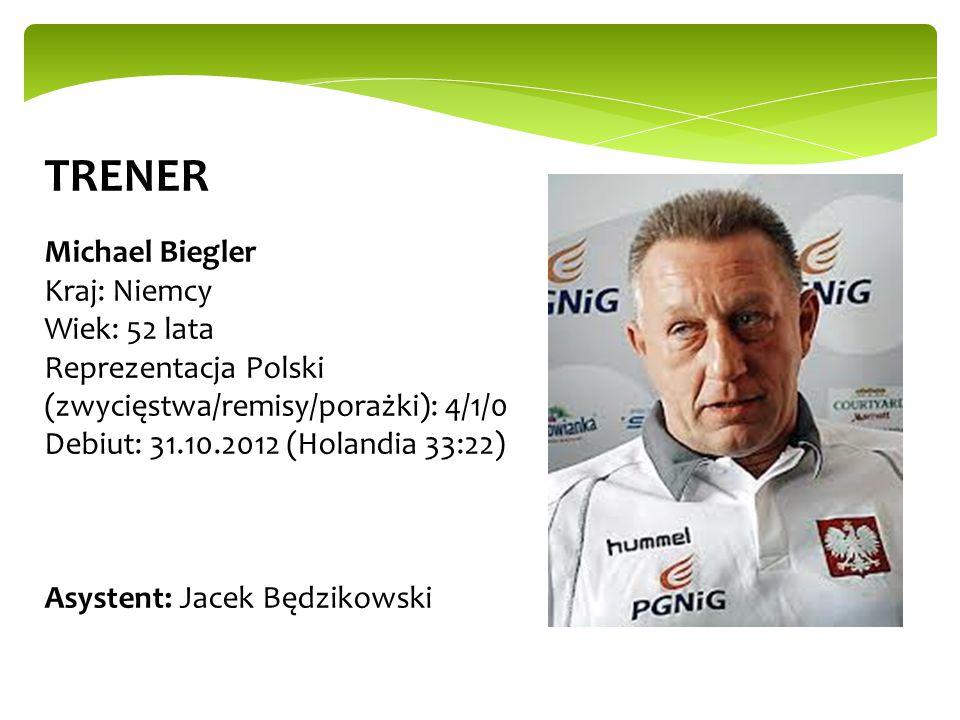 TRENER Michael Biegler Kraj: Niemcy