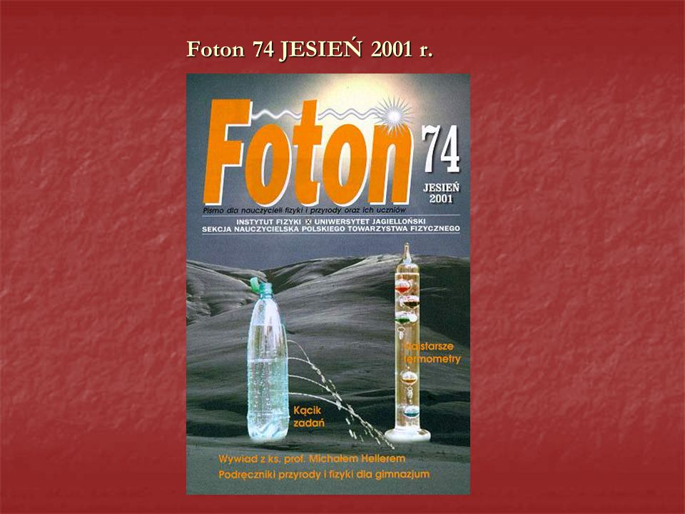 Foton 74 JESIEŃ 2001 r.