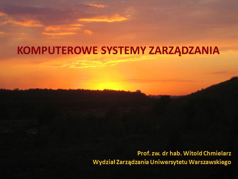 KOMPUTEROWE SYSTEMY ZARZĄDZANIA