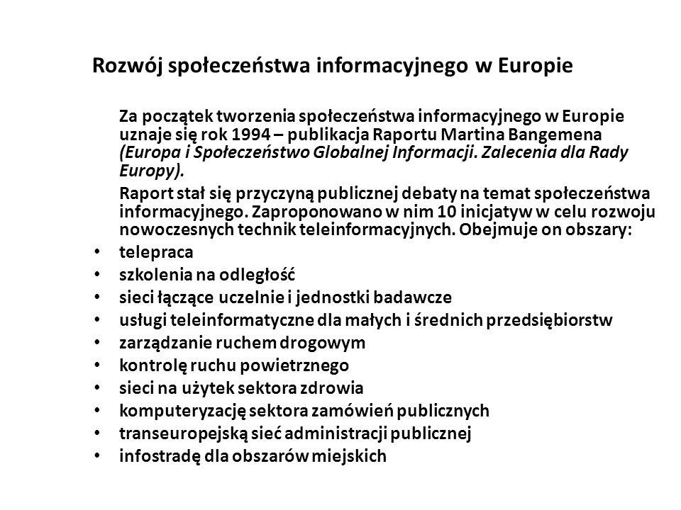 Rozwój społeczeństwa informacyjnego w Europie