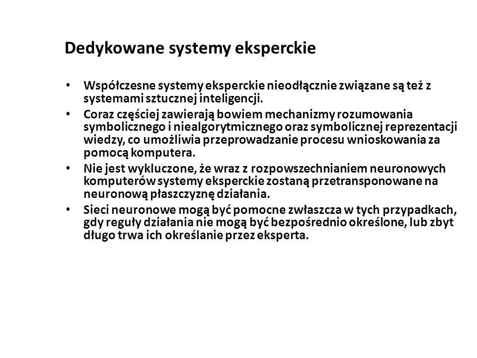 Dedykowane systemy eksperckie