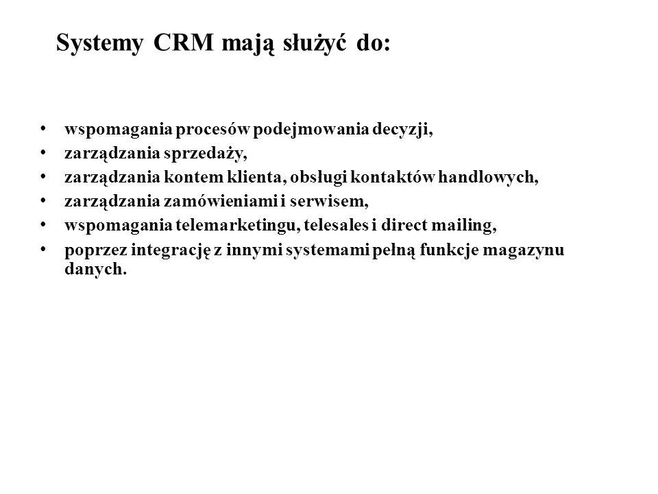Systemy CRM mają służyć do: