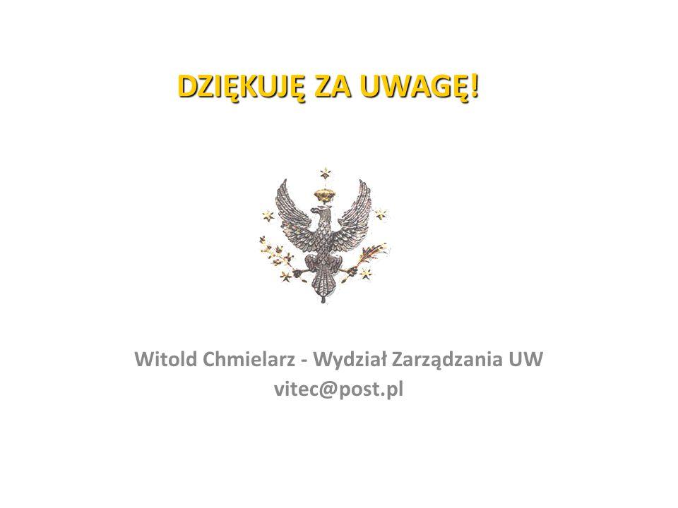Witold Chmielarz - Wydział Zarządzania UW vitec@post.pl