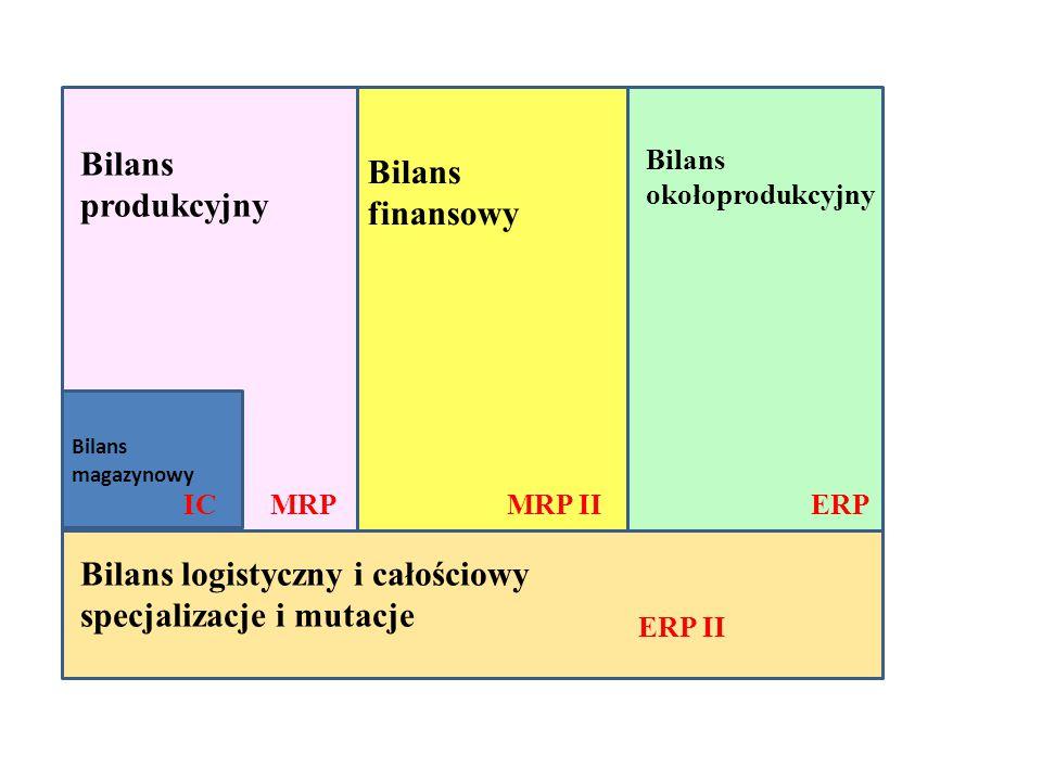 Bilans logistyczny i całościowy specjalizacje i mutacje