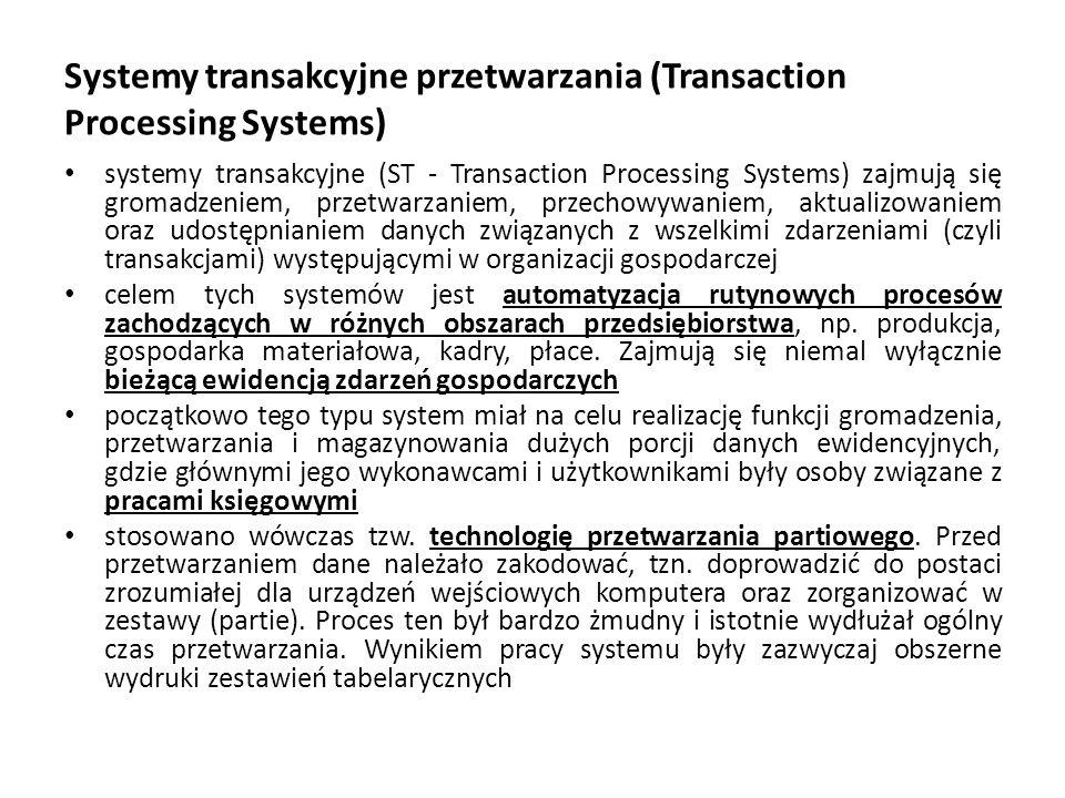 Systemy transakcyjne przetwarzania (Transaction Processing Systems)