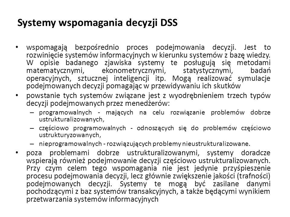 Systemy wspomagania decyzji DSS