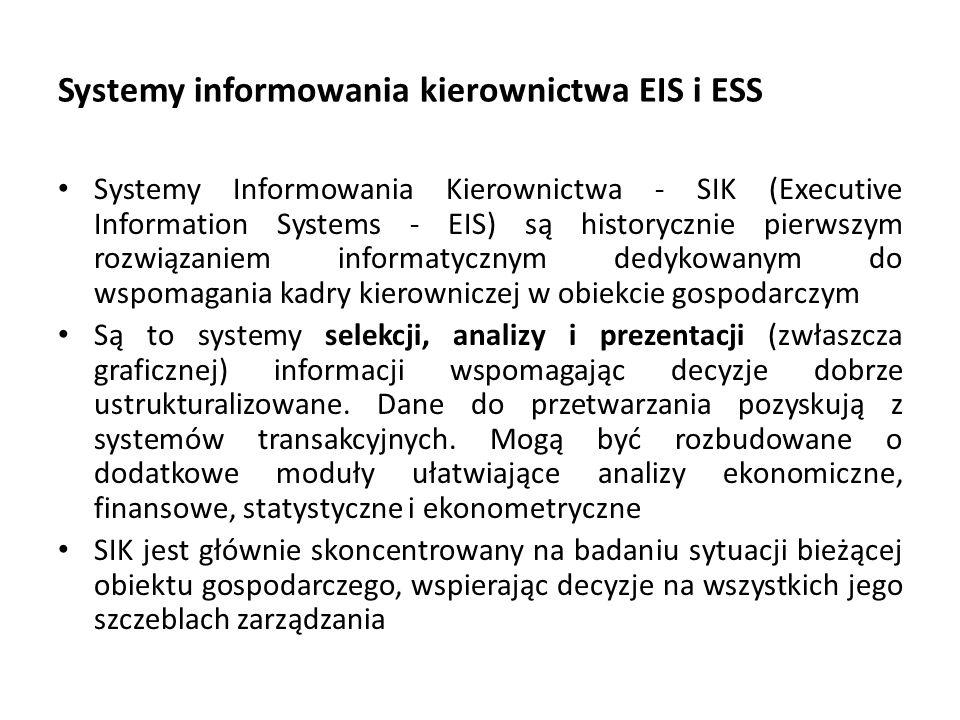 Systemy informowania kierownictwa EIS i ESS