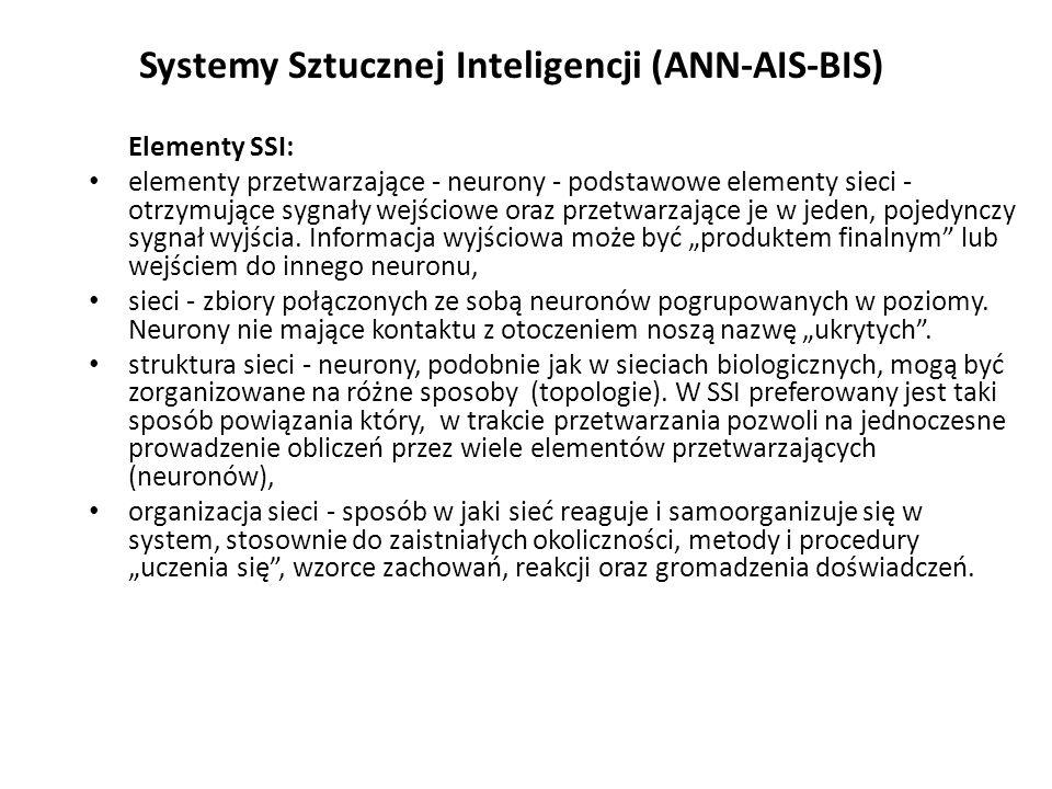 Systemy Sztucznej Inteligencji (ANN-AIS-BIS)