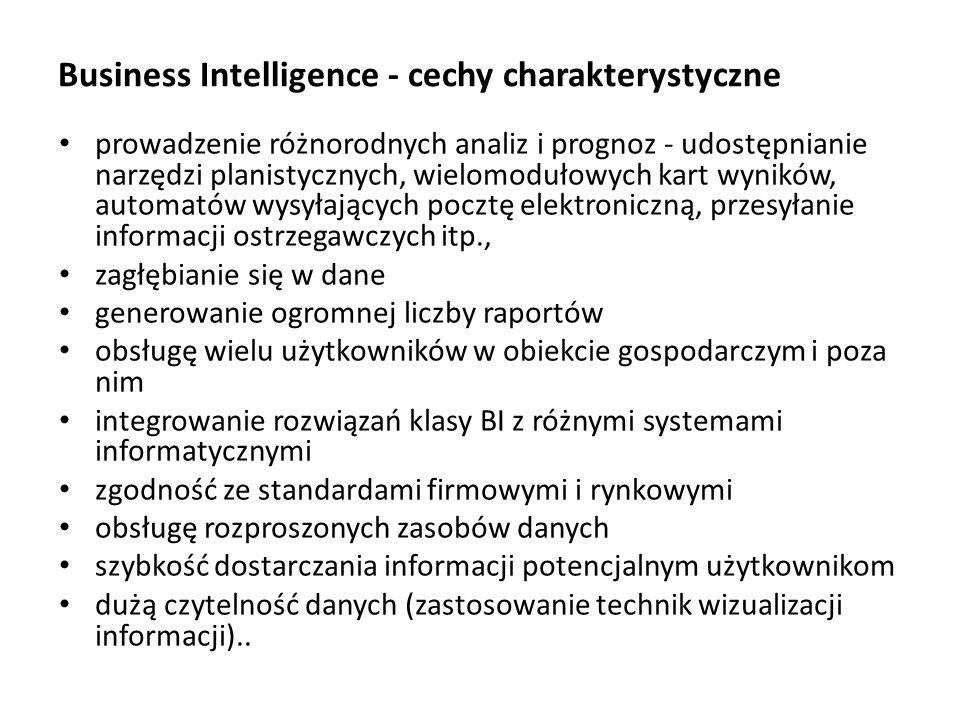Business Intelligence - cechy charakterystyczne