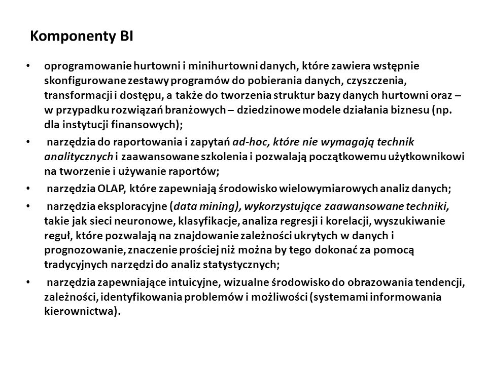 Komponenty BI
