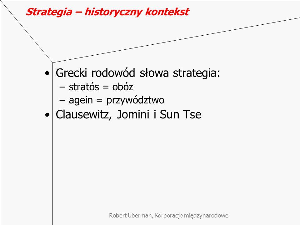 Strategia – historyczny kontekst