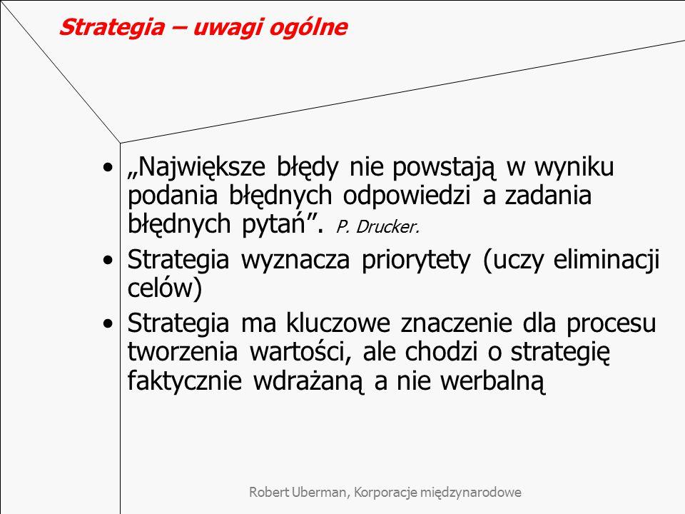 Strategia – uwagi ogólne