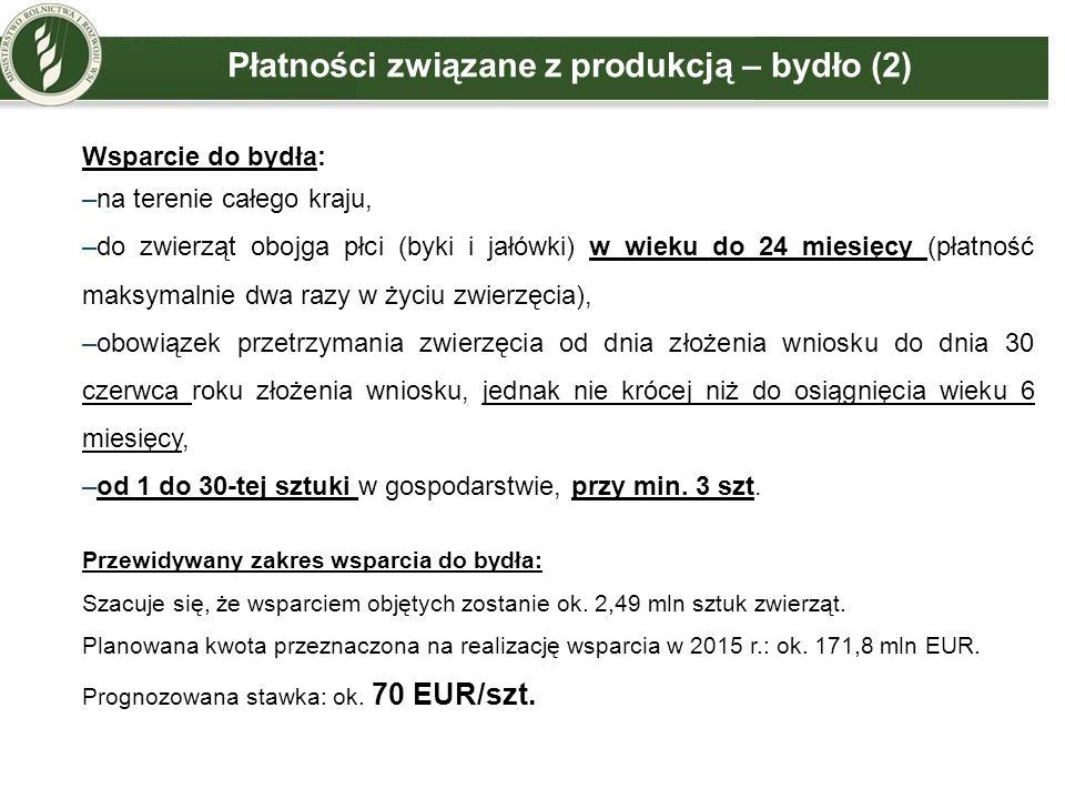 Płatności związane z produkcją – bydło (2)