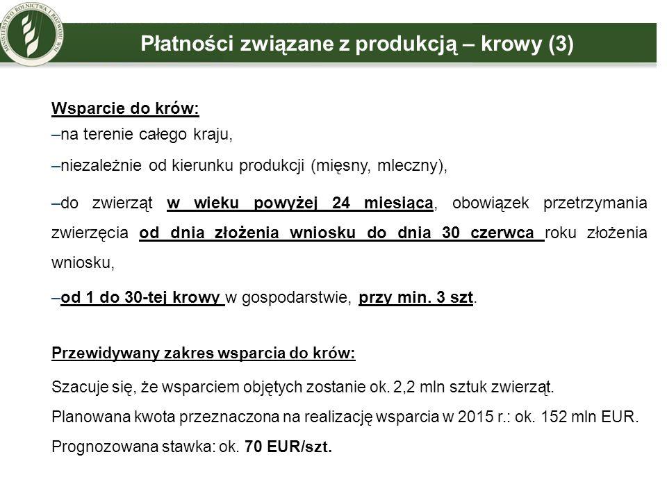 Płatności związane z produkcją – krowy (3)
