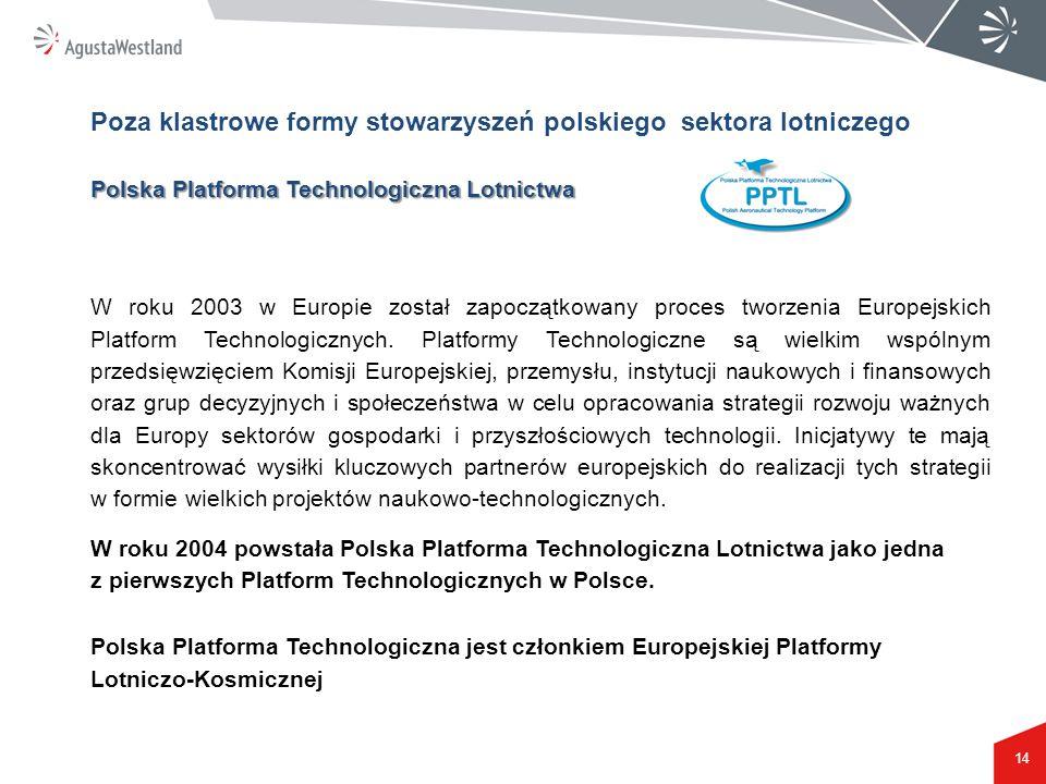 Poza klastrowe formy stowarzyszeń polskiego sektora lotniczego