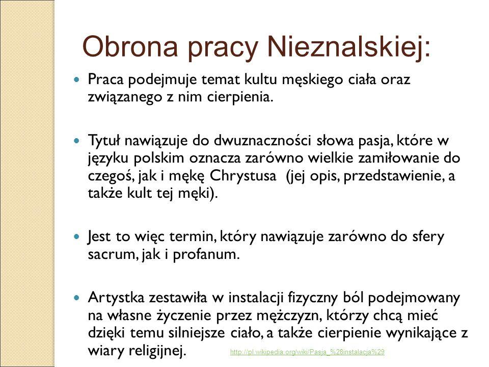 Obrona pracy Nieznalskiej: